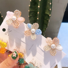 Korean Multicolor Luxury Crystal Rhinestone Hair Claw Crabs Clips Claws Cute Hairpin Clip Accessories Women