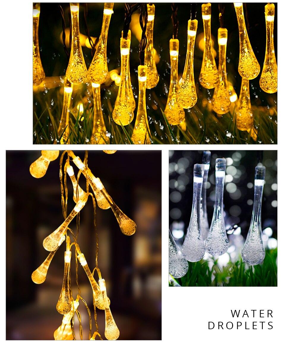 Solar Light Lamp Outdoor Waterproof Solar LED Garland Globe Ball Fairy String Light Party Holiday Wedding Xmas Garden Decoration (13)