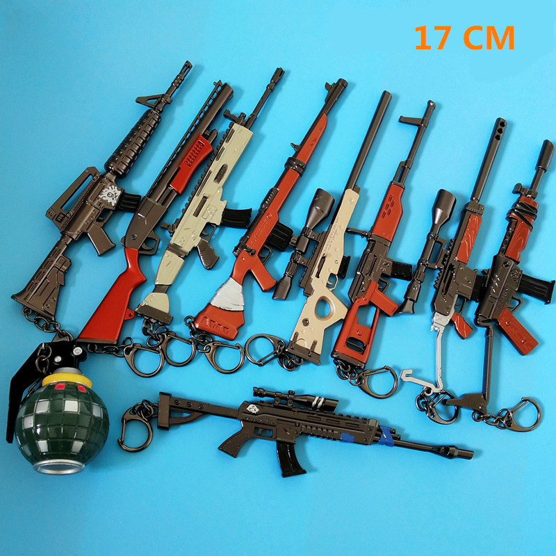 Costume Props Efficient 17 Cm Kids Toy Fortnight Battle Royale Action Figure Fortress Awm Gun Model Alloy Weapons Fortnit Keychain Llaveros An Indispensable Sovereign Remedy For Home