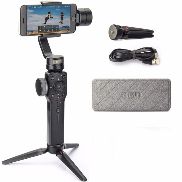 Zhiyun steadicam Smooth 4 3-Axis Handheld portable Gimbal Auto focus smartphone Stabilizer for iPhone Andrews Gopro Smooth Q