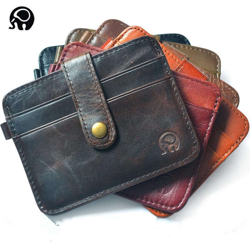Pria dompet, Pemegang kartu bisnis, Pemegang kartu bank, Kulit sapi paket penjemputan, Pemegang kartu bus, Gesper ramping multi-card-bit tas pack