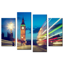 Wall Decor Canvas Art Pictures Print With London Big Ben Clock Tower Lights Building Home Dceoration Art Custom Print Canvas