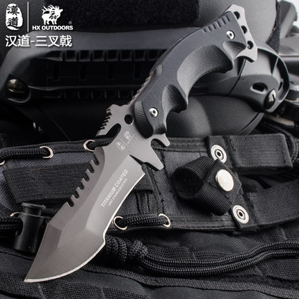 Camping tactical fixed knife Hunting survival tools Karambit Blade Pocket EDC Tools 440C Titanium Cold Steel 1