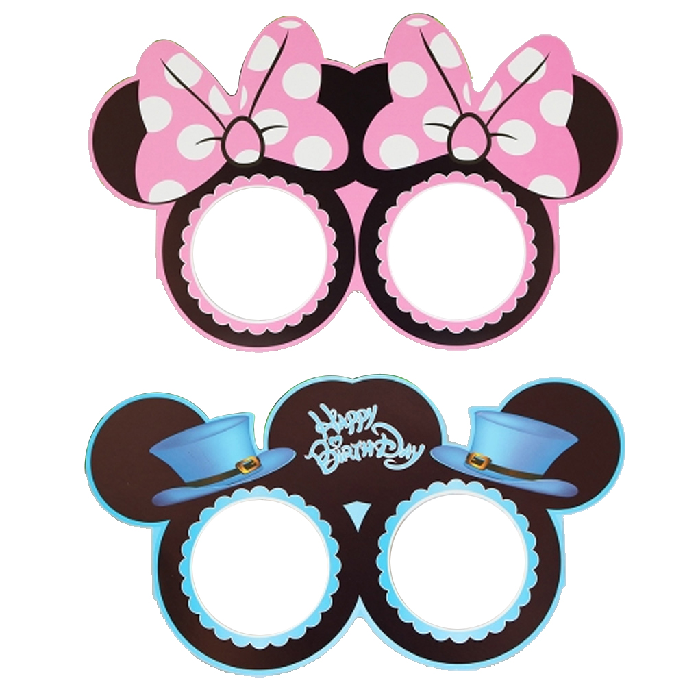 Minnie Mickey Mouse Glasses Boy Girl Happy Birthday
