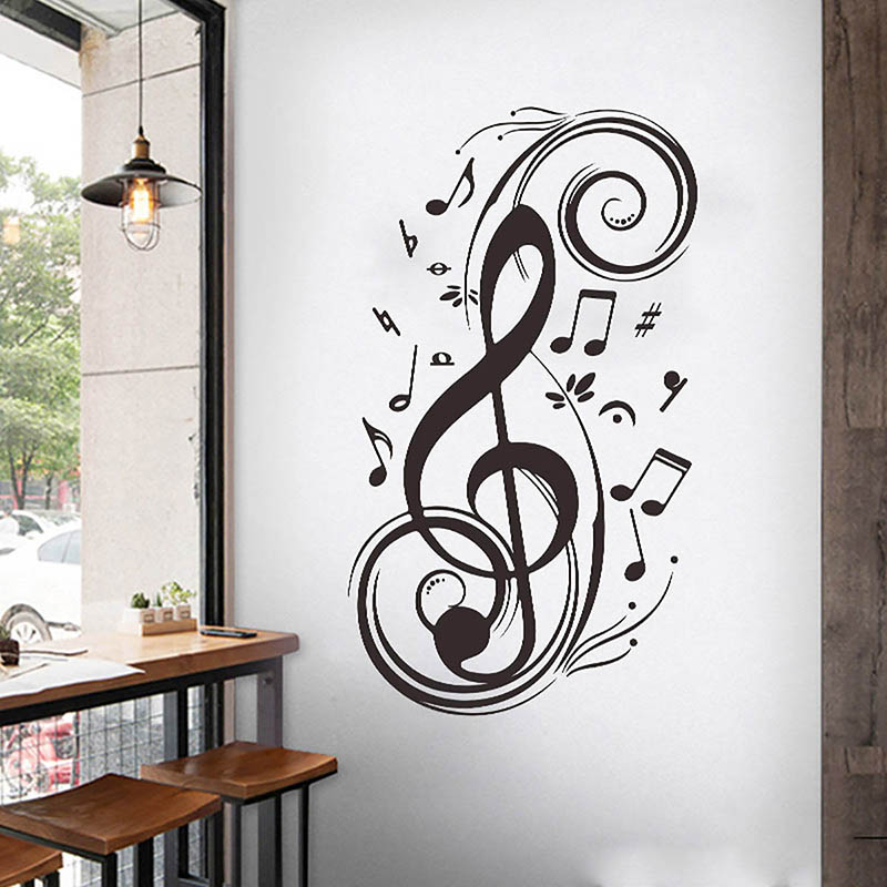 Newly Simple Wall Sticker Musical Note Pattern Wall Decal Home Decor Xsd88 Wall Stickers Aliexpress