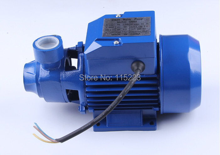 QB60 Mini Electric Water Pump 220v Or 110v Pumps High Pressure For Pond Garden House 3 inch gasoline water pump wp30 landscaped garden section 168f gx160 agricultural pumps