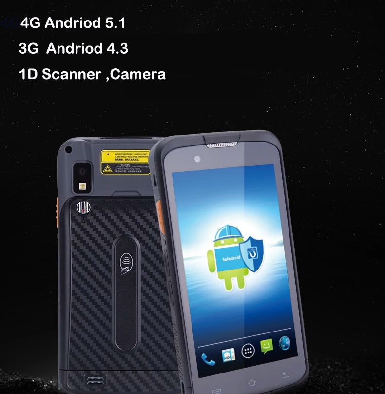 Android 4.3 OS Enterprise Smartphone with wifi/bluetooth/GPS/WCDMA/PSAM.Urovo i6300 1D Data terminal smartphone