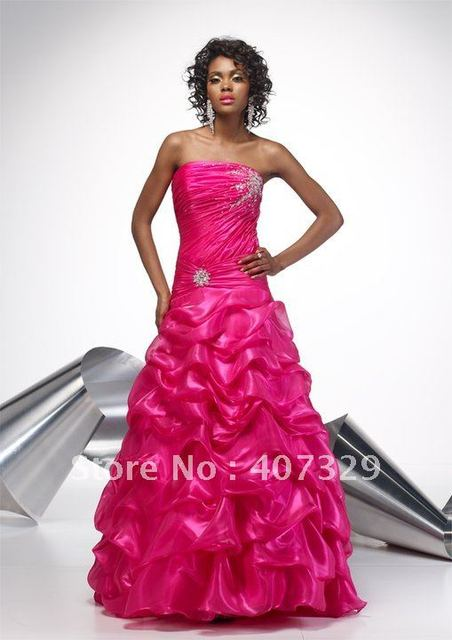 New Arrival Organza Ball Gown Floor-Length Custom Made Free Shipping Cheap Prom Dresses