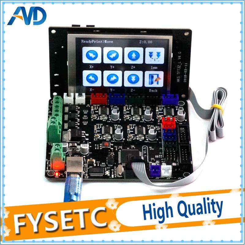 MKS Base V1.5 3D Printer Control Board With USB Mega 2560 R3 Motherboard + MKS TFT32 V4.0 Touch Screen Smart Controller Display