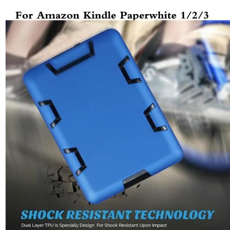 Kinder Rüstung Stoßfest PC TPU Hybrid Rückseite Fall für Amazon Kindle Paperwhite...