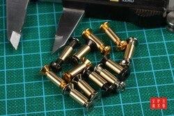 10 conjuntos lote m4 * 6 táticas de parafuso bloqueio faca rebite ferramentas diy material faca lidar com placa fixação