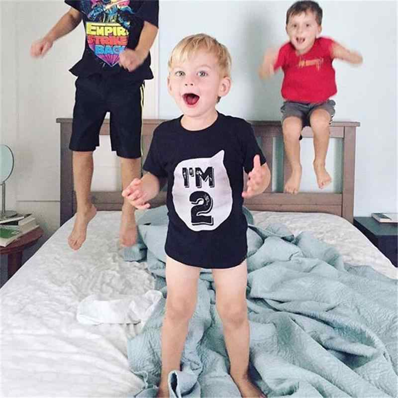Im 1 First Birthday T Shirt Summer Baby Boy Girl Tee Kids Casual Clothes