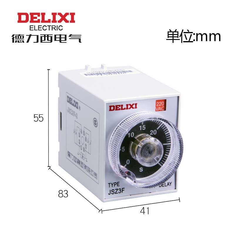 Details about  /1PCS New Delixi JSZ3R 220VAC Time Relay Brand  #DEL