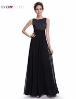 Clearance Sale Ever Pretty Women Vintage Evening Dresses A Line O Neck Sleeveless Floor Length