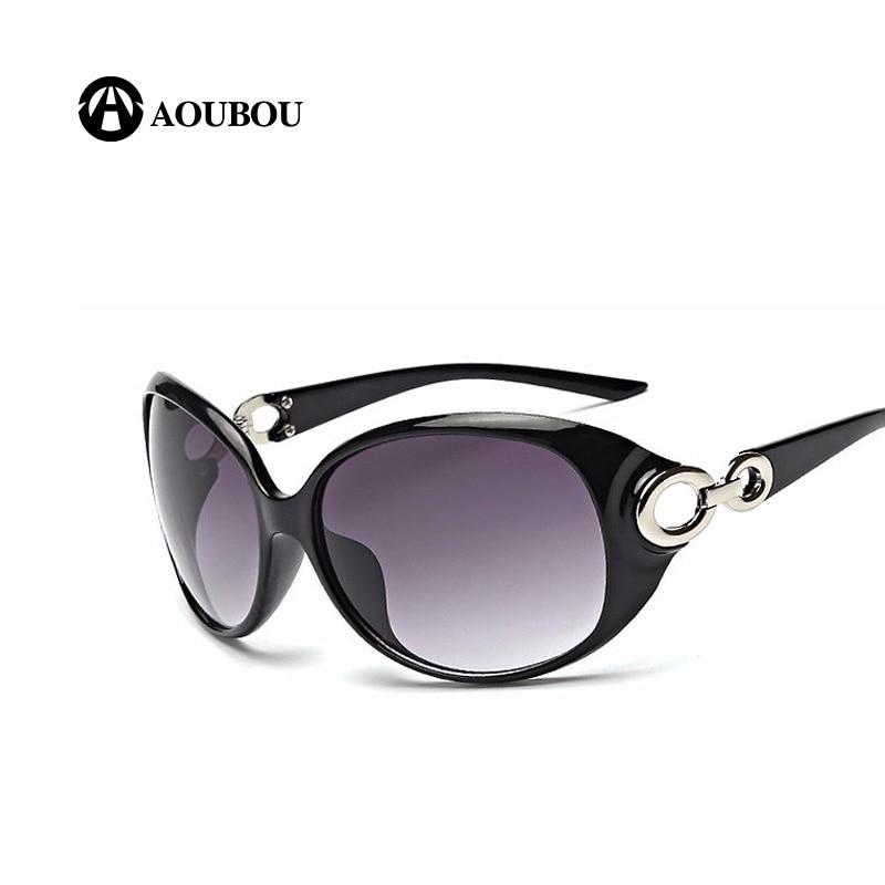 AOUBOU Značka Design Ženy Polarizované sluneční brýle Černý ovál UV400 Polykarbonát Sluneční brýle Okluzivní Feminino 6195