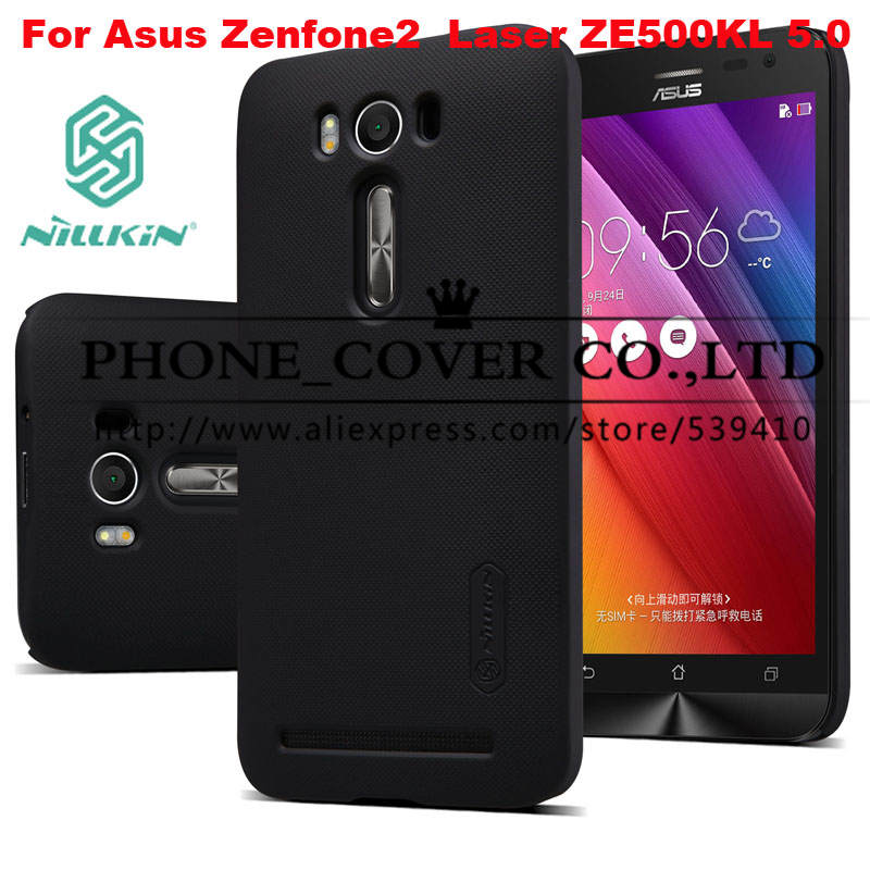 Nillkin Super Frosted Shield Case Cover For Asus ZenFone 2 Laser ZE500KL 5.0 Phone skin cases + screen protector + retal package