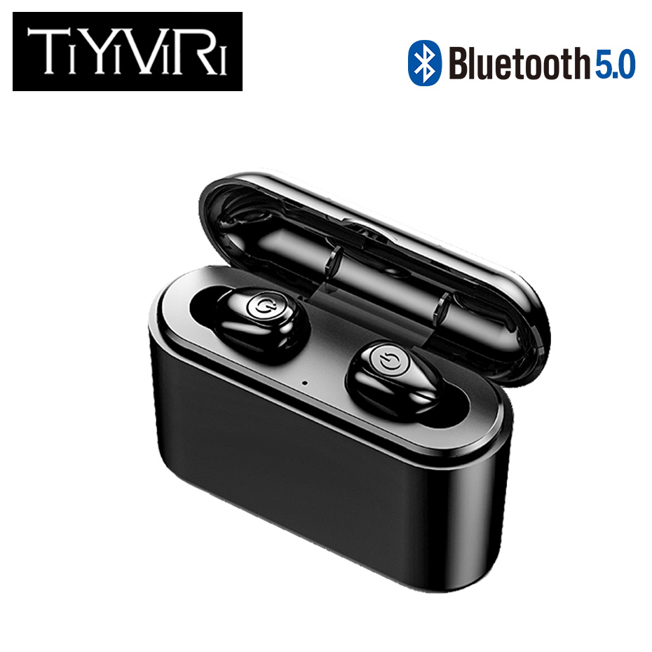 <font><b>TWS</b></font> <font><b>Bluetooth</b></font> <font><b>Earphones</b></font> Earbuds Wireless Headset Mic Mini In-Ear Headsets Sports Stereo Headphones With Charging Box For Iphone image