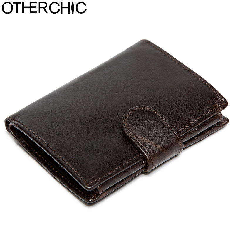OTHERCHIC Men Short Wallet Genuine Leather Men Purse Card Holder Vintage Wallets Men Oil Wax Leather Portefeuille Homme 7N04-18 aim hot sale genuine leather wallet men oil wax trifold purse man famous brand design short wallets vintage coin card holder men