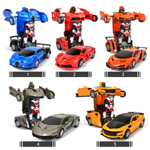 2In1 RC Car Transformation Robots Sports Vehicle Remote Control Cars Model Racing font b Toys b
