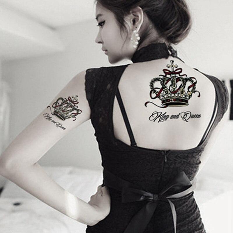 Del Arte De Cuerpo Del Tatuaje De La Corona De Lujo Estilo