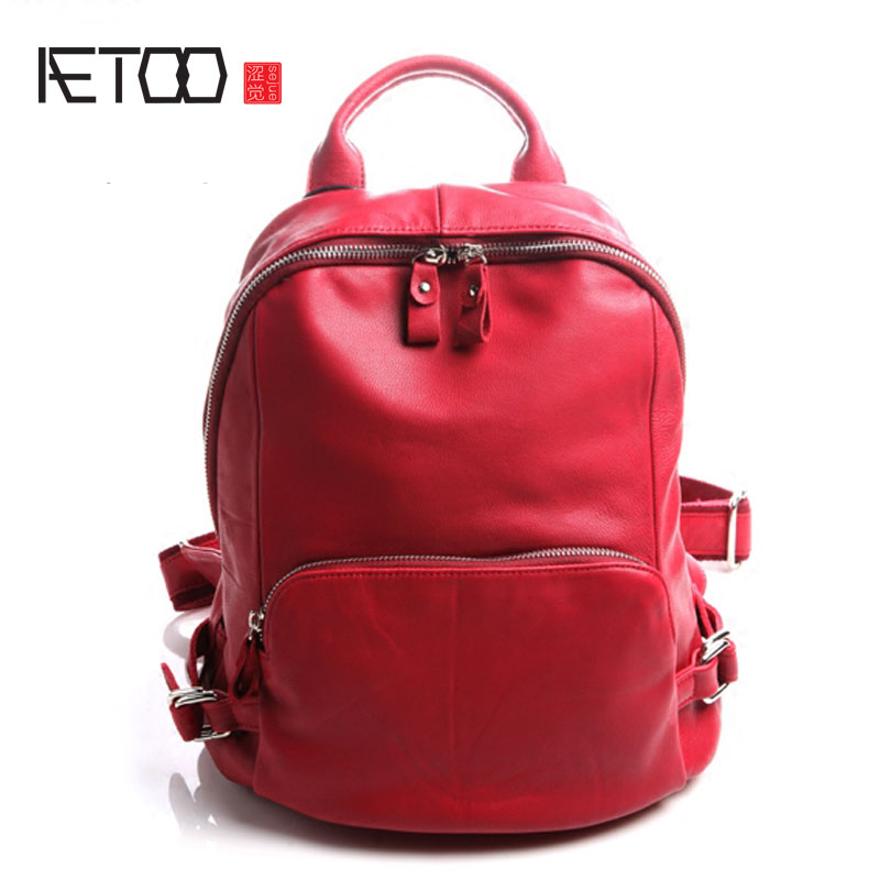 AETOO Pure leather Europe and the United States Japan and South Korea fashion retro leather shoulder bag leisure travel sheepski