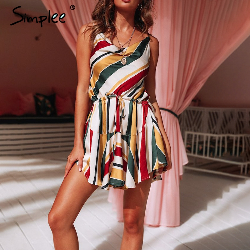Simplee Multi-color Satin Dress S19DR0765