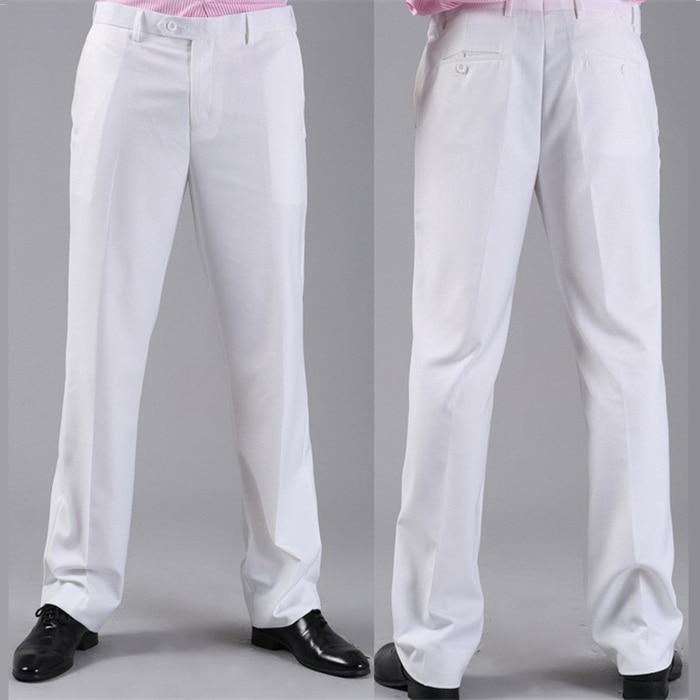 Мужские костюмные брюки модные свадебные формальные 12 цветов повседневные брюки известный бренд блейзер брюки Деловое платье брюки CBJ-H0284 - Цвет: slim white