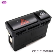 YAOPEI Hazard Warnng Light Lock Switch Emergency Flash Light Switch Push Button On/Off Switch 61318368920 For BMW 3 Series E46
