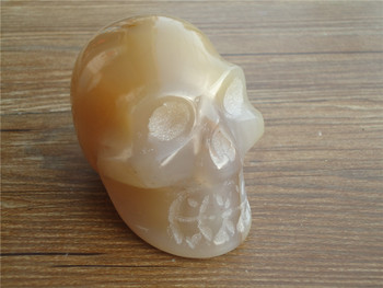 465g Natural Agate quartz crystal skull PT1047