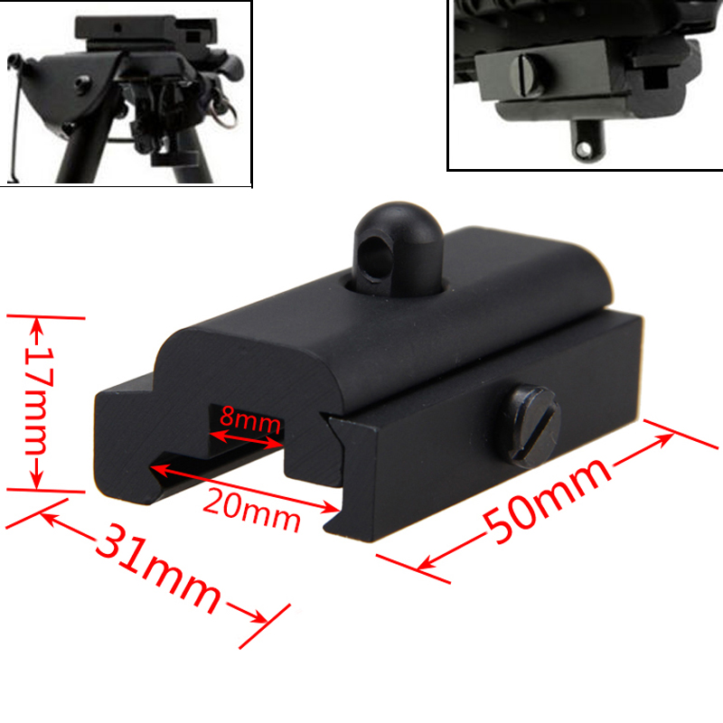 30mm Slot Sling Adapter for Picatinny and Weaver Rail with 36mm Sling Swivel