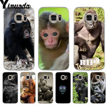 Yinuoda Monkey Gorilla Ape Baby soft tpu phone case cover for samsung galaxy s9 plus s7 edge s6 edge plus s5 s8 plus case(China)