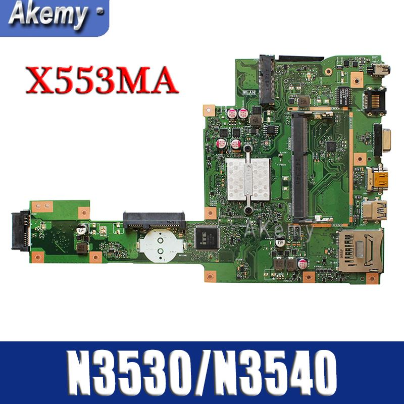 New Amazoon X553MA Laptop Motherboard For ASUS X553MA X553M A553MA D553M F553MA K553M Test Original Mainboard N3530/N3540 4-Core