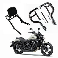 New Motorcycle Backrest Shelf Sissy Rear Passenger Seat Bar Bumper For Kawasaki Vulcan S650 VN650 VN 650 2015 2016 2017 2018