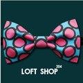 2016 moda hombres pajarita rosa círculo imprimir bowtie ocio masculino corbata caballero mariage boda corbatas corbatas diseñador ocasional desgaste