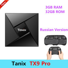 Tanix TX9 Pro Android 7.1 Smart TV Box Amlogic S912 Octa-core CPU Set Top Box Bluetooth 4.1 3 GB RAM + 32 GB ROM Soutien HDMI 2.0