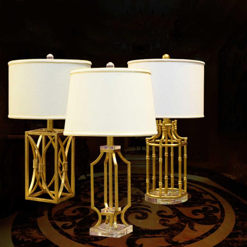 Роскошная Ретро металлическая настольная лампа золотого и серебристого цвета, роскошная прикроватная лампа для спальни, скульптурная металлическая декоративная лампа, Abajur Led 106 #