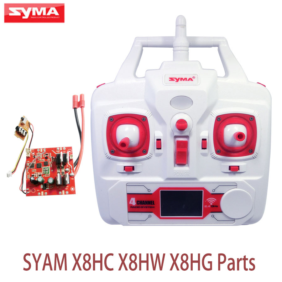 Original Syma X8HG RC Drone Spare Parts PCB Circuit Board Receiver And Transmitter Remote Controller X8HW X8HC Accessories