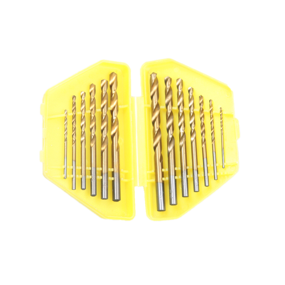 13pcs/Lot Professional 1/16 To 1/4 Inch HSS Titanium Imperial Twist Drill Bit Set for Cutting all kinds of metal with case 13pcs lot hss high speed steel drill bit set 1 4 hex shank 1 5 6 5mm free shipping hss twist drill bits set for power tools
