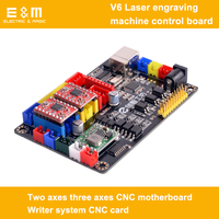 Placa de Controle Da Máquina de Gravura do Laser V6 DIY Dois Eixos Sistema de Três Eixos CNC Motherboard Escritor Cartão CNC