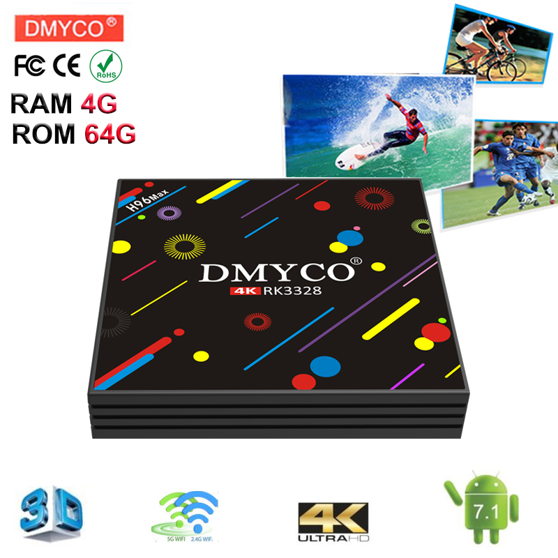 Smart tv box android 7.1 h96 max RK3328 Quad core 4GB RAM 64 ROM 5G WiFi Portugal Set-top box Bluetooth Media Player pk h96 pro