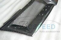 Z przodu samochodu Grill kratka wlotu powietrza dla Nissan Livina z włókna węglowego Racing grille w Kratki wyścigowe od Samochody i motocykle na
