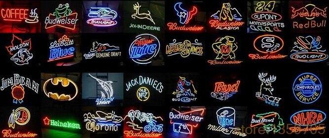 Pick-up ici enseigne au néon vrai verre bière BAR PUB lumière signes magasin affichage emballage alimentaire régime boisson publicité lumières 17*14