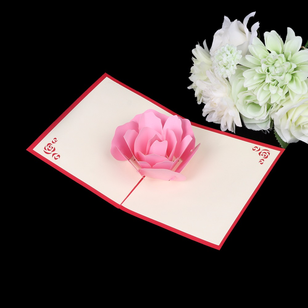 3d pop up greeting card handmade rose flower birthday christmas 3d pop up greeting card handmade rose flower birthday christmas valentines day in cards invitations from home garden on aliexpress alibaba group izmirmasajfo