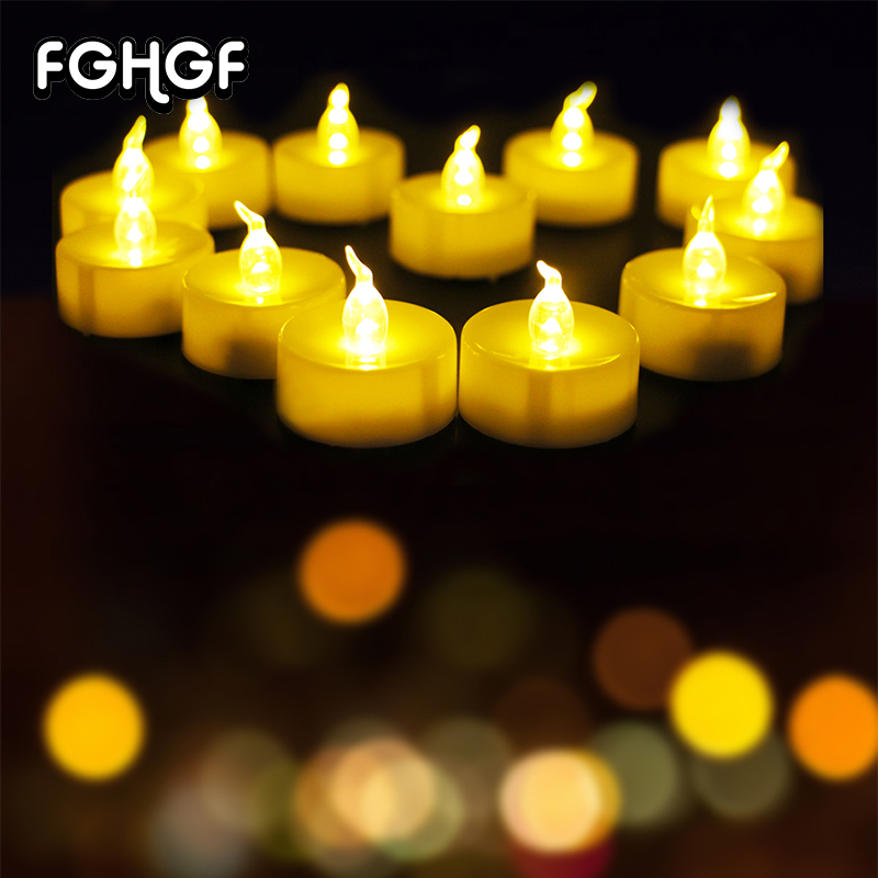 12 Pcs Parties Home Decoration Led Flickering Candle Light With CE&ROHS Grave Electric flameless candle Decoration for Christmas