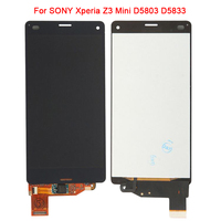 LCD de substituição Para Sony Xperia Z3 Compact LCD Screen Display Toque Digitador Assembléia Para Sony Z3 mini D5803 D5833 LCD