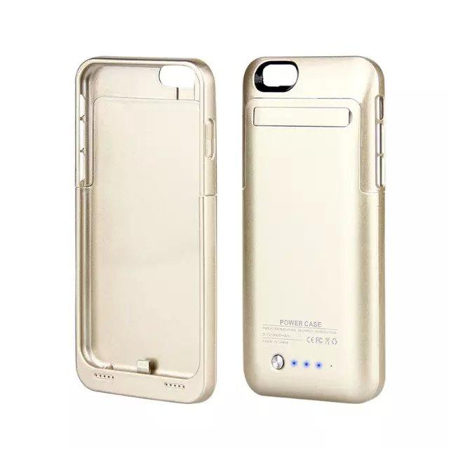 ip6s 3500mah Rechargeable External Backup Battery Case Portable Power Bank Case Cover for iPhone 6 6S Mobile Phone Charger Case