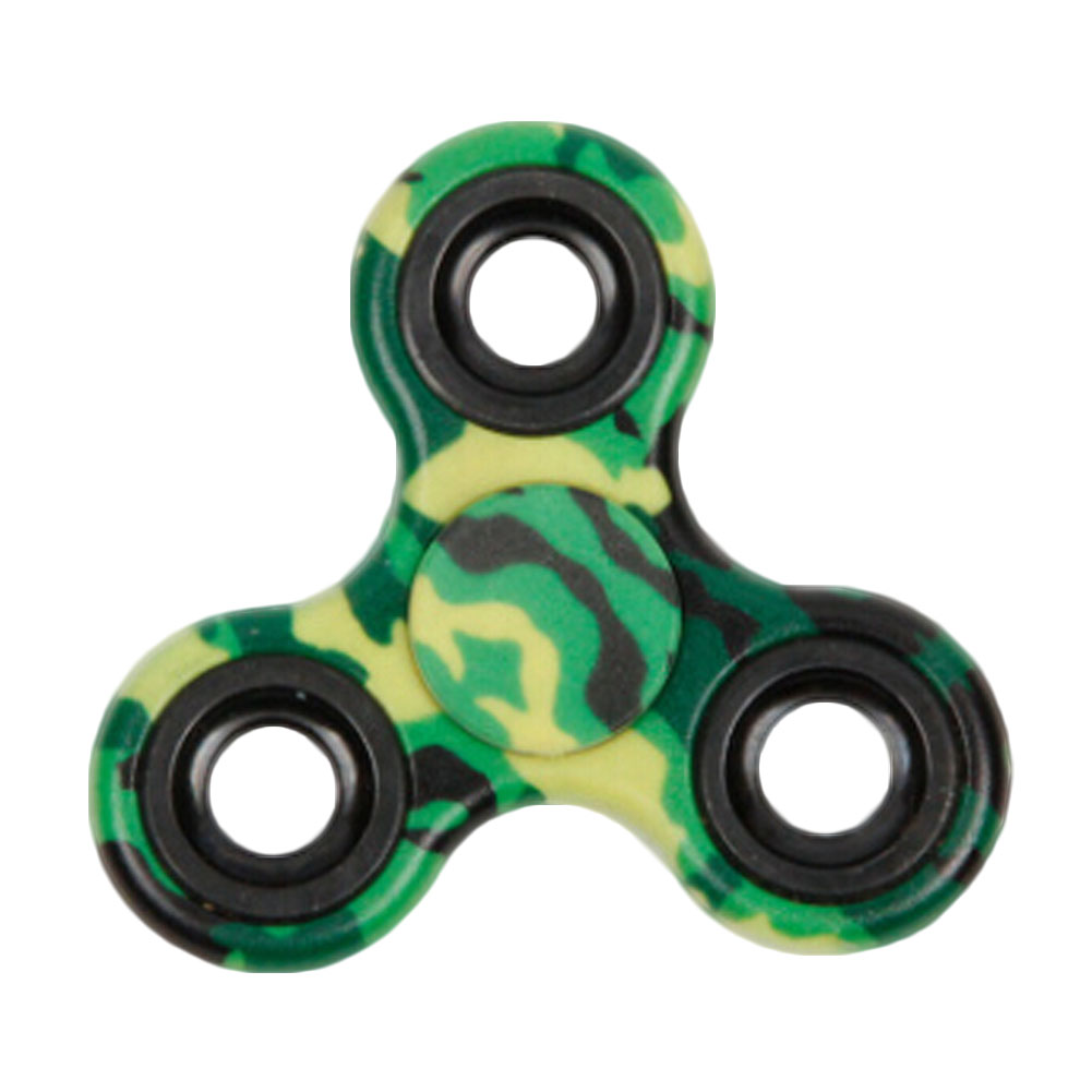 Hot Selling Army Green Tri-Spinner Toy Plastic EDC Spinner For Autism And ADHD HandSpinner EDC Sensory Spinner