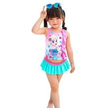 Girl Two Pieces Suit Children Skirt Swimsuit Beachwear 1-8 Year Kid Cute Cartoon Swimwear 2020 Baby Swimming Bathing