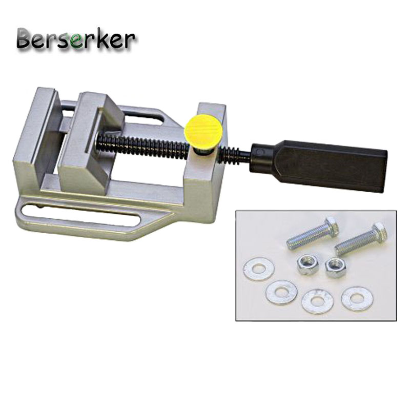 Berserker Drill Press Vise Flat vice Mini Drill clamp for drill press aluminium alloy bench drill vise pliers tools 1pc jaw carving bench clamp drill press mayitr flat vice opening parallel table vise diy sculpture craft