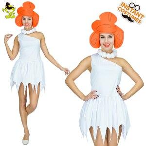 Женский карнавальный костюм Wilma Flintstone, вечерние костюмы для женщин, винтажное пикантное платье для косплея